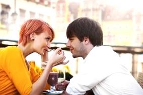couple échange de regard